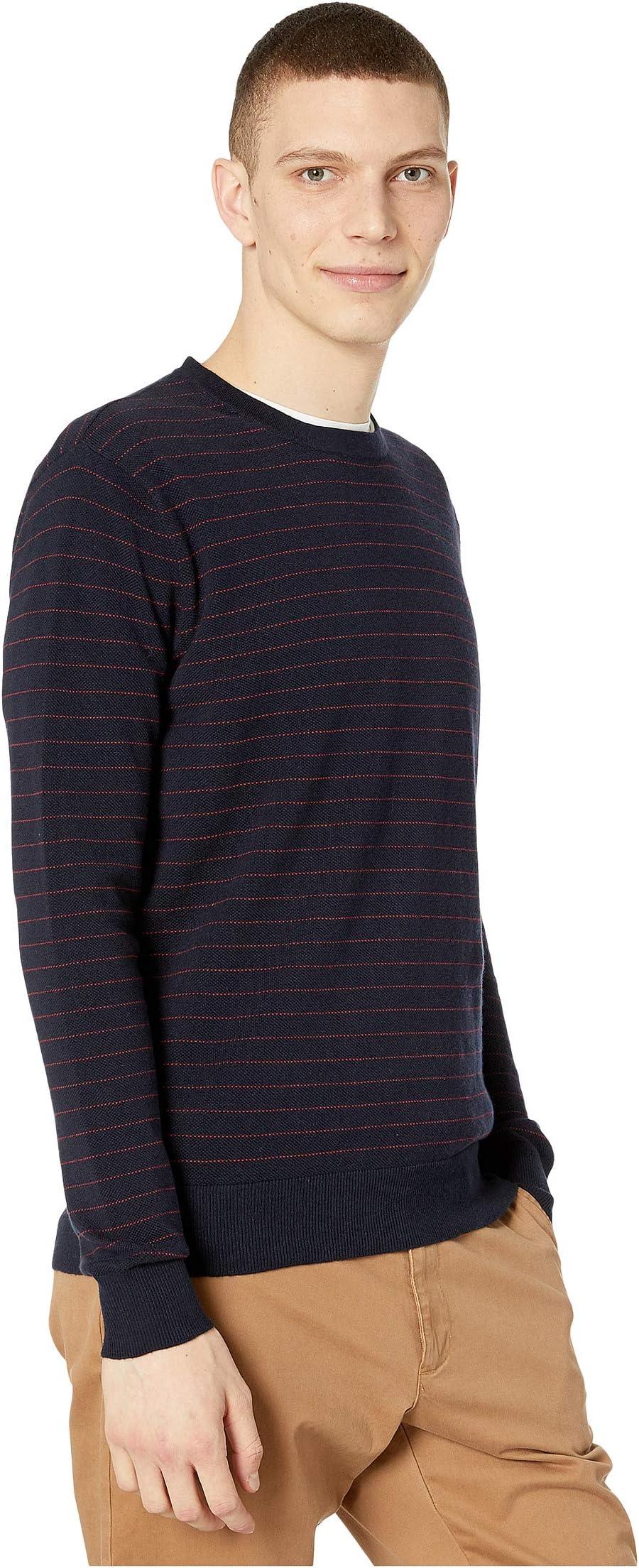 J.Crew Cotton-Cashmere Piqué Line Stripe Crewneck Sweater AtiL4