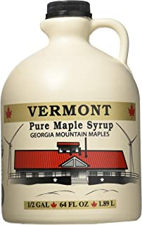 Georgia Mountain Maples of Vermont, Organic Maple Syrup, Amber Color Rich Taste, 64 Ounce
