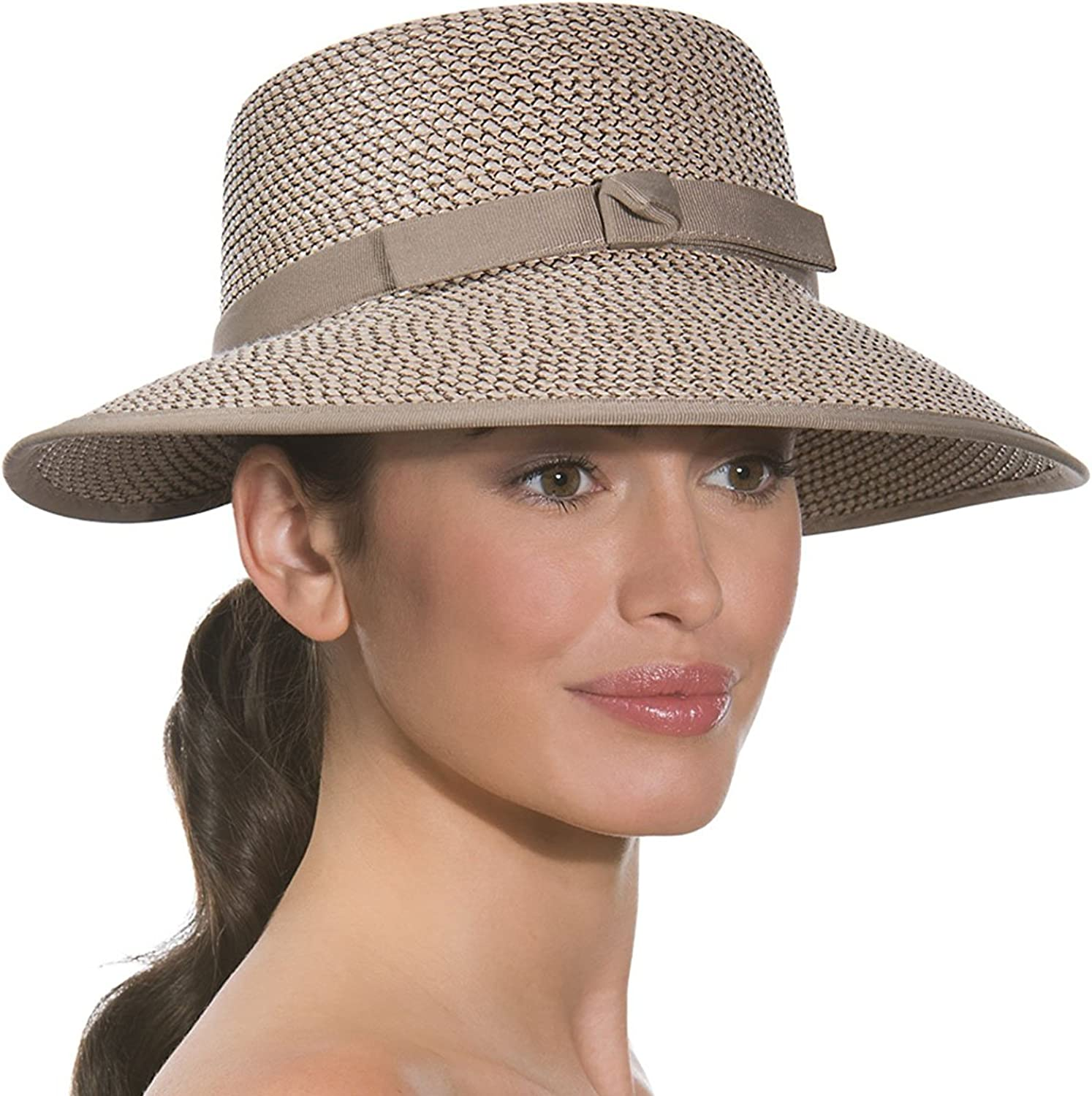 Eric Javits Luxury Fashion Designer Women's Headwear Hat  Squishee Cap  Bark