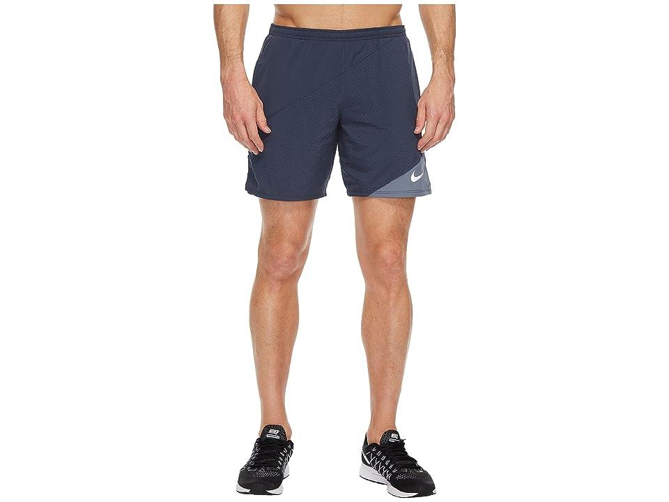 Nike Distance 7 Running Short (Thunder Blue/Armory Blue) Men