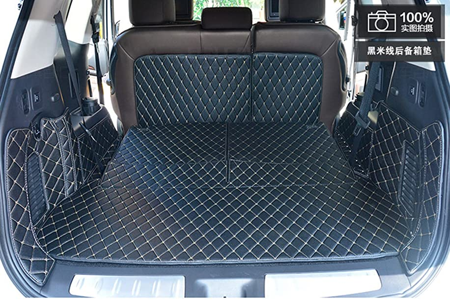 Worth-Mats 3D Full Coverage Waterproof Car Trunk Mat For Infiniti QX60 7 Seat-Black