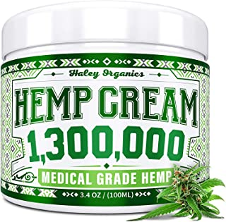 Hemp Cream - Pain Relief Cream - 1,300,000 - Natural Hemp Cream for Arthritis, Muscle Pain Relief - Made in...
