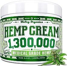 Hemp Cream - Pain Relief Cream - 1,300,000 - Natural Hemp Cream for Arthritis, Muscle Pain Relief - Made in USA - Hemp Oil...