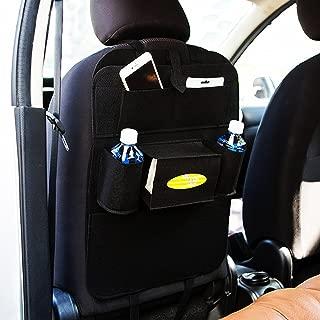Autofy Universal 7 Pocket Car Auto Seat Back Organizer Back Seat Organiser Mobile Pen Tissue Lunch Box Holder Multi Pocket Storage Hanger for All Cars (Black)