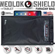 Mission Darkness Medium NeoLok Faraday Bag with Magnetic Closure // Tablet Size Device Shielding for Law Enforcement & Military, Travel & Data Security, Anti-Hacking & Anti-Tracking Assurance