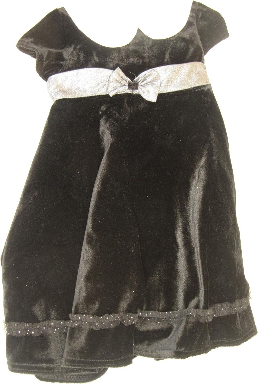 Good Lad Dress Black Velvet Little Deluxe Soldering Girls