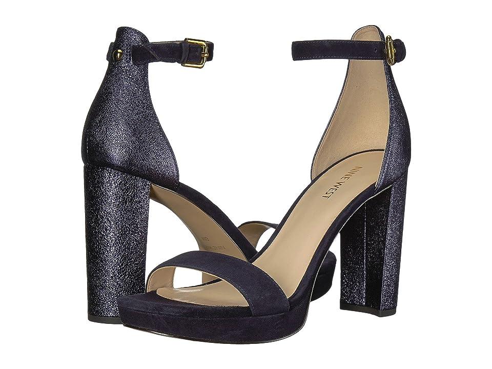 Nine West Dempsey Platform Heel Sandal (Navy Multi Metallic) Women