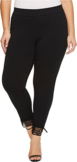 MICHAEL Michael Kors - Plus Size Lace Cuff Ponte Leggings