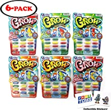Magic Grow Capsules (6 Packs of 12) All Different with 2 GosuToys Stickers Gift Bundle