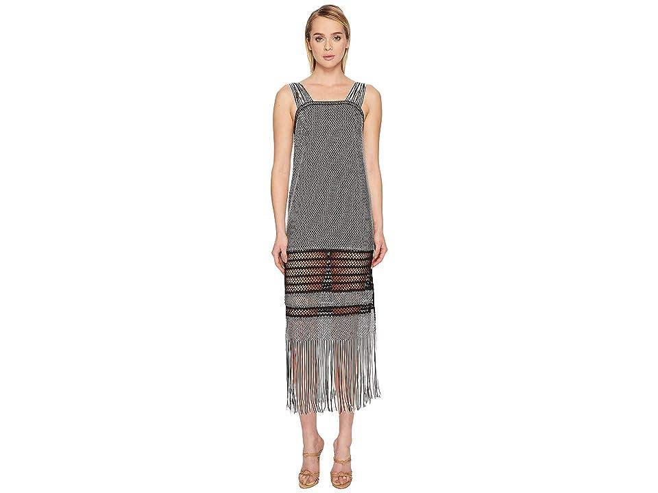 Jonathan Simkhai Knit Fringe Maxi Dress Cover-Up (Black) Women
