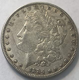 1884 P Silver Morgan Dollar XF Condition Extremely Fine Details