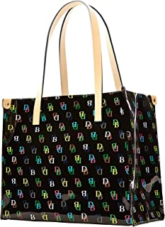 Dooney & Bourke Medium IT Shopper Tote Handbag Purse Black