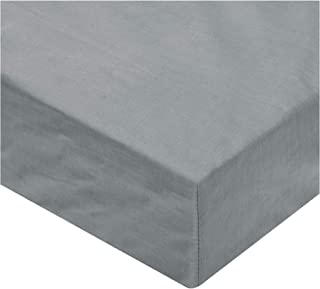 IBed home Fitted Sheet 3 Pieces Set 144 Thread Count, Cotton, King, Grey, H21.2 x W29.4 x D5 cm