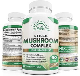 Sponsored Ad - 10 Organic Mushrooms For Immunity Defense and Nootropic Brain Support - Lions Mane, Cordyceps, Turkey Tail,...