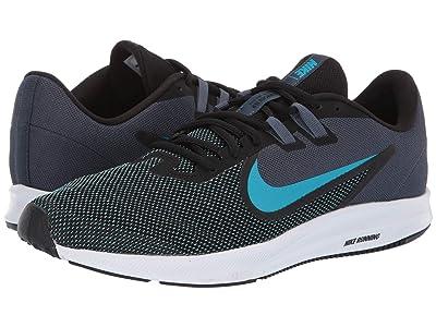 Nike Downshifter 9 (Black/Blue Lagoon/Monsson Blue/White) Men