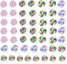HAN SHENG 50 Pcs Charms Craft Lollipop Flatback Beads Making Supplies for DIY Scrapbooking Crafts