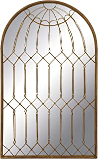 Creative Co-op Arched Mirror with Iron Cage Design