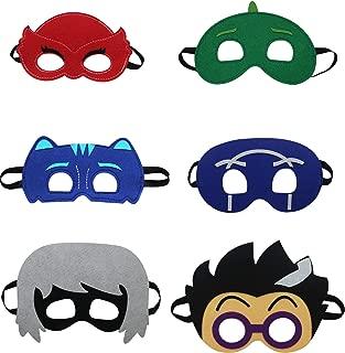 STARKMA Cartonn Hero Masks Party Favors Dress Up Costume Set of 6 Mask