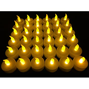 Flameless LED Tea Light Candles, 36 PK Vivii Battery-Powered Unscented LED Tealight Candles, Fake Candles, Tealights (36 Pack)