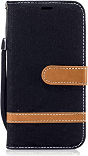 Stylish Cover Compatible with Samsung Galaxy S9 plus, black Leather Flip Case Wallet for Samsung Galaxy S9 plus