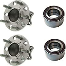 Detroit Axle - 4PC Front Wheel Bearing and Rear Wheel Hub Bearing Assembly w/ABS for - 2007-2009 Dodge Caliber - [2010-2012 Dodge Caliber FWD w/Drum Brakes] - 2007-2016 Jeep Compass/Patriot 2WD