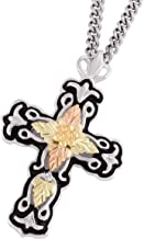 product image for Black Hills Gold on Silver Antiqued Cross Pendant