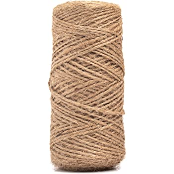 656 Feet Natural Jute Twine Gift Twine String Christmas Gift Twine Arts Crafts Jute Rope for Gift Wrap DIY Decoration KINGLAKE