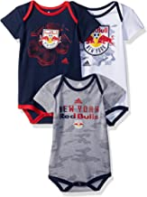Outerstuff MLS New York Red Bulls Boys Hat Trick 3 Pack Creeper Set, New Navy, 18 Months