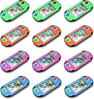 AJ Toys & Games Set of 12 Water Ring Game Machine Arcade Video Children's Kid's Toy Handheld Water Game Multicolor Fun Party Favor, Goodie Bag or Stocking Stufferg
