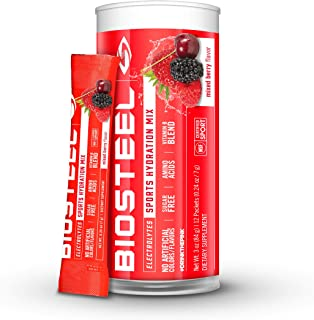 BioSteel Hydration Mix - Sugar Free, Essential Electrolyte Sports Drink Powder - Mixed Berry - 12 Single Servings