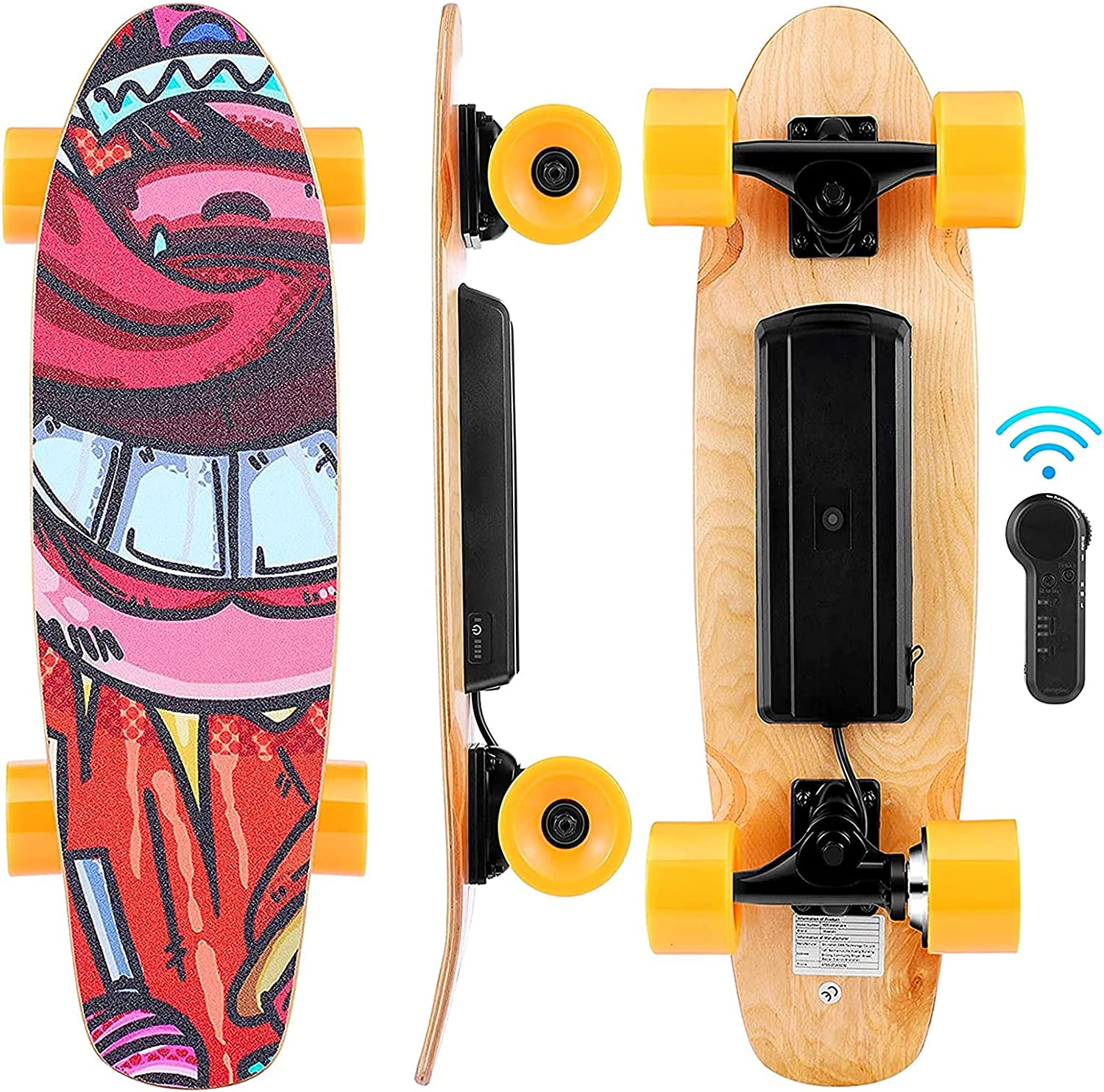 Electric 100% quality warranty Skateboard with Wireless Remote Control 3 E-Skate Memphis Mall Speed