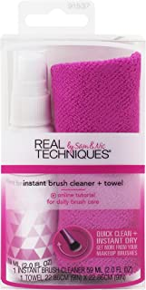 Real Techniques Daily Brush Cleanser Plus Towel, Makeup Brush Cleaner Solution and Absorbent Drying Towel