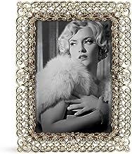 إطار صور مرصع بالمجوهرات من سارو لايف ستايل 8.89 سم × 12.7 سم، ذهبي