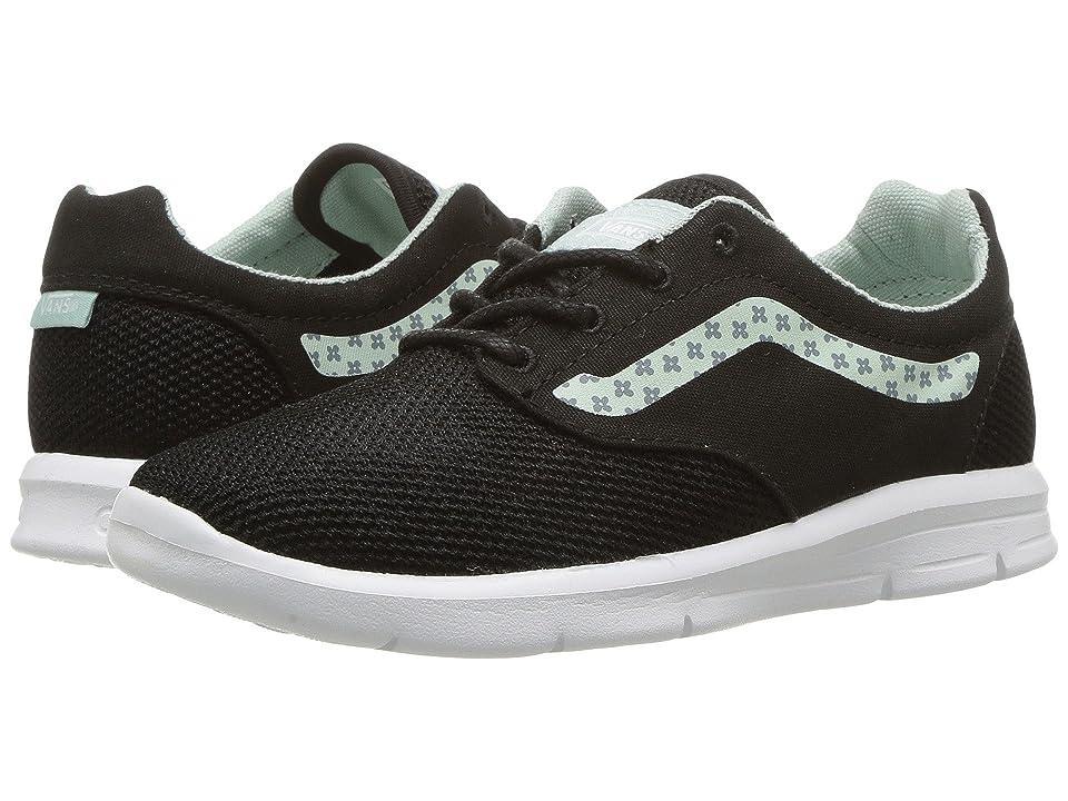 Vans Kids Iso 1.5 (Little Kid/Big Kid) ((Sidestripe Print) Black/Harbor Gray) Girls Shoes