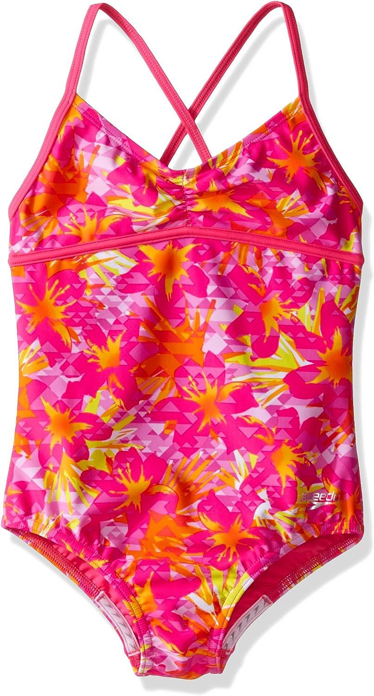 Speedo Girls Jungle Floral One Piece Swimsuit