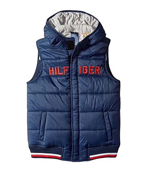 c6de0306 Tommy Hilfiger Adaptive Vest with Hood and Magnetic Buttons (Little ...