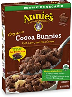 Annie's Organic Cereal, Cocoa Bunnies, Oat, Corn, Rice Cereal, 10 Oz, Pack of 10