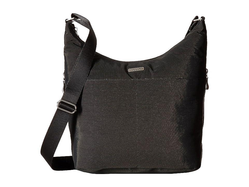 Baggallini Hobo Crossbody with RFID Wristlet (Charcoal) Cross Body Handbags
