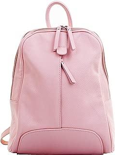 Primo Sacchi® Ladies Italian Textured Leather Backpack Grab Shoulder Bag Handbag. Incudes Branded Protective Storage Bag