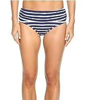 Tommy Bahama - Breton Stripe High-Waist Bikini Bottom