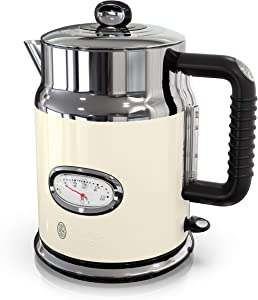 Remington Russell Hobbs KE5550CRR Retro Style 1.7L Electric Kettle, Cream