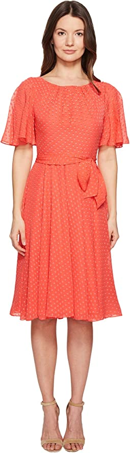 Spice Things Up Clipped Chiffon Dress