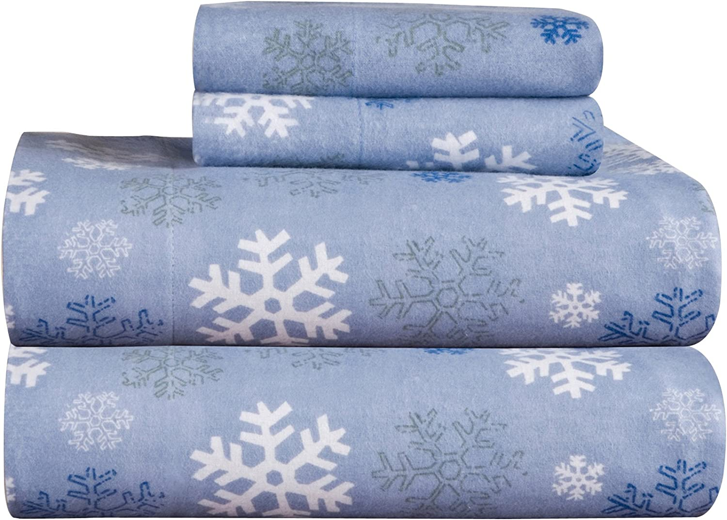 Heavy Winter Flannel Sheet Set Fitted Flat Pillow Cases Deep Pocket 4 Pieces