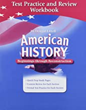American History: Beginnings through Reconstruction: Test Practice and Review Workbook