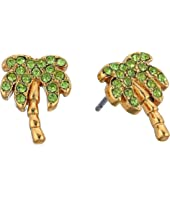 Kate Spade New York - California Dreaming Pave Palm Tree Studs Earrings