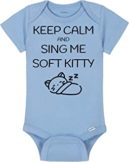 Big Bang Theory Baby Onesie® - Keep Calm And Sing Me Soft Kitty - Sheldon Cooper Bodysuit - Handmade Baby Bodysuit For Boys And Girls - Baby Shower Gift Idea