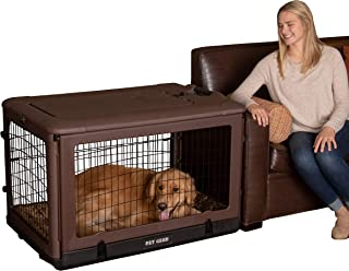 """Pet Gear """"The Other Door"""" 4 Door Steel Crate with Plush Bed + Travel Bag for Cats/Dogs"""