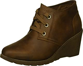 BOBS Women's Tumble Weed-Goin West. Microfiber Wedge Bootie W Memory Foam Ankle Boot