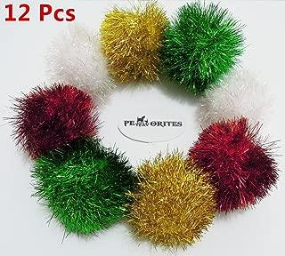 PetFavorites Bushy Sparkle Ball Cat Toy,  Interactive Glitter Pom Pom Cat Toy Balls for Kittens,  Bulk Pack.