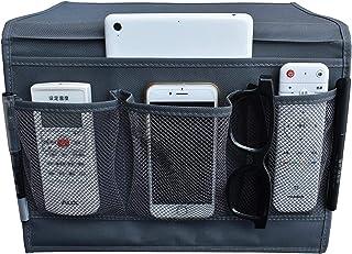 منظم تخزين بجانب السرير من يو فامب، بتصميم حقيبة مع 4 جيوب جانبية، يعلق على الطاولة والخزائن، لوضع جهاز تحكم عن بعد للتلفز...
